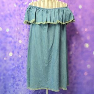 Mossimo Off The Shoulder Raw Hem Dress Size XL